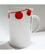 Starbucks Coffee Mug Red Christmas Ornaments 2012 Tall White Holiday Cup... - $10.03