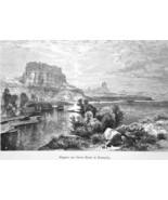 KENTUCKY Green River Cliffs by Thomas Moran - 1883 German Print - $21.60