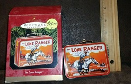 1997 Hallmark Keepsake Ornament THE LONE RANGER Mini  LUNCH BOX  Christm... - $5.99