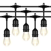AntLux 52FT LED Outdoor String Lights - 1.5W Dimmable Vintage Edison Bul... - $56.27