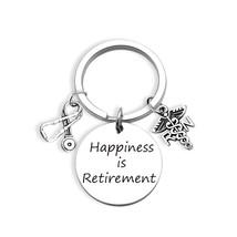 ZNTINA Retirement Gift Happiness is Retirement Keychain Happy Retirement... - $27.99