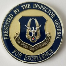 Usaf Air Force Reserve Command Ig Inspector General Above And Beyond Coin - $49.49