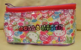 Hello Kitty Cosmetic Vinyl Hand Bag Make Up Case with Hand Strap / Cloth... - $15.99