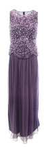 Patra Women's Size 6 Sequin Popover Mesh Ball  Purple Violet Gown 2281-3 - $55.53
