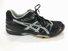 Asics Gel Rocket Women's Volleyball Gym Shoes Black/Silver Size 10 B455N - $32.68