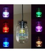 Corona Extra Beer Pendant Light Sign Island Bar Mancave Home LED Color C... - $67.54