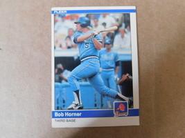 1984 fleer card # 181 Bob Horner braves third base - $6.99