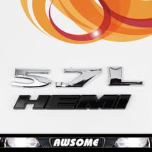 2Pcs 3D 5.7L HEMI Car Sticker Decal Engine Emblem For Charger Mopar Dodg... - $17.19