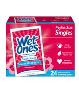 Wet Ones Antibacterial Hand Wipes Singles, Fresh Scent, 24 Count - $4.95