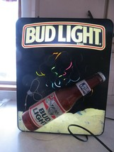 BUD LIGHT IN MOTION DIFFERENT COLORS SWIRLING LIGHTED BEER DISPLAY SIGN,... - $270.75