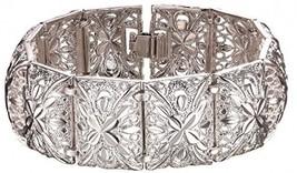 Women Bangle Vintage Indian Style Jewelry 20cm Long 2.2cm Width Platinum... - $36.67