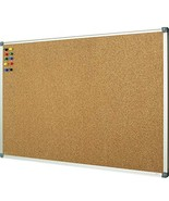 Lockways Corkboard Bulletin Board - Double Sided Cork Board 48 x 36 Noti... - $52.78