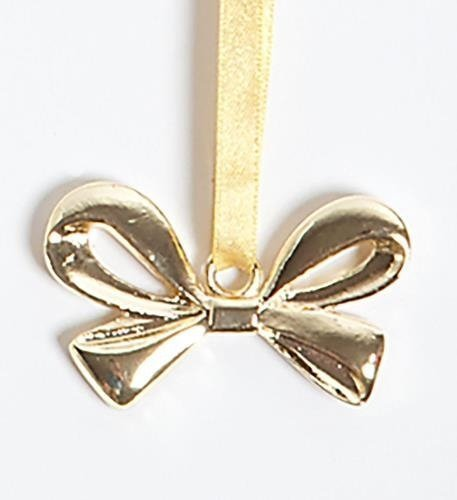 Gold Colored Metal Bow Ornament