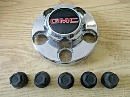 One 1995 to 2001 GMC 1500 pickup van chrome 5 lug bolt on center cap hubcap - $27.78
