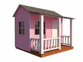 Kids Playhouse Plans DIY Backyard Storage Shed Micro Cottage Small Guest... - $24.95