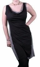 Bench UK Black Grey Station Beach Casual Fitted Cowl Neck Dress BLSA1318 NWT