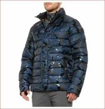 new Noize Amstdm men coat jacket 4765250-00 blue black camo sz M $230 - $79.19