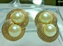 """Vintage Jewelry: 1"""" Faux Pearl ClipOn Earrings 02-18-2019 - $7.99"""