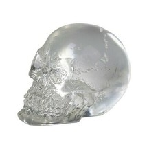 Pacific Giftware 12 Clear Crystal Like Mini Skulls Figurines Busts.Cute! 1 - £8.45 GBP