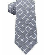 MICHAEL KORS Mens Neck Tie 100% Silk Silver Check Classic $69 - NWT - $9.89