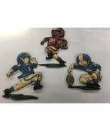3 Vintage HOMCO 1976 FOOTBALL PLAYER Plaques Wall Hangings USA Collectable - $27.00