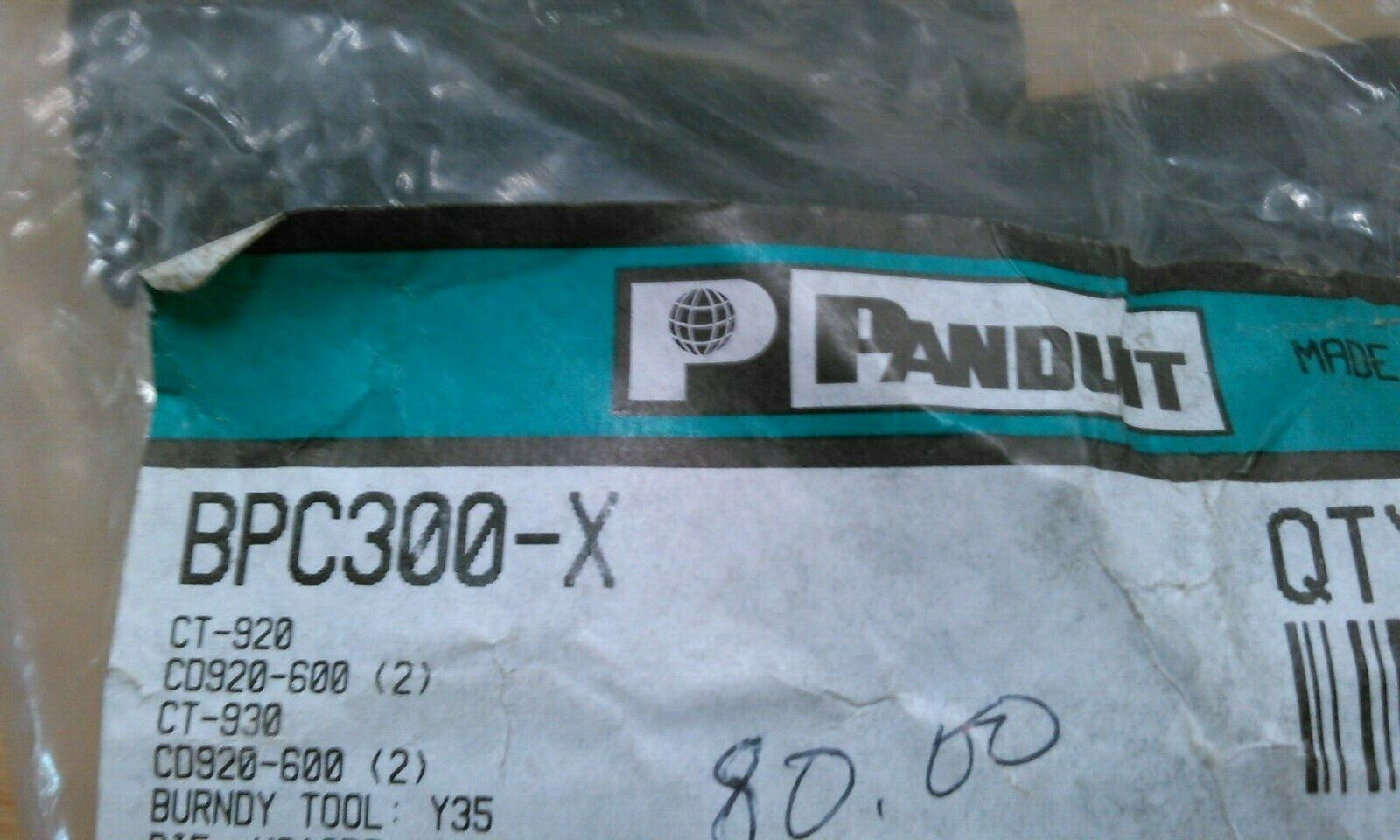 PANDUIT BPC300-X #4/0 AWG CABLE CONNECTOR - $80.00
