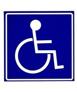 """HANDICAPPED 4"""" x 4"""" DISABLED A.D.A.WHEELCHAIR SYMBOL Highly Reflective D... - $6.92"""