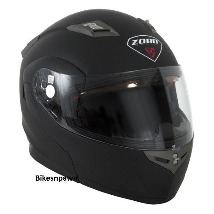 New XS Zoan Optimus Matte Black Modular Motorcycle Helmet 038-033