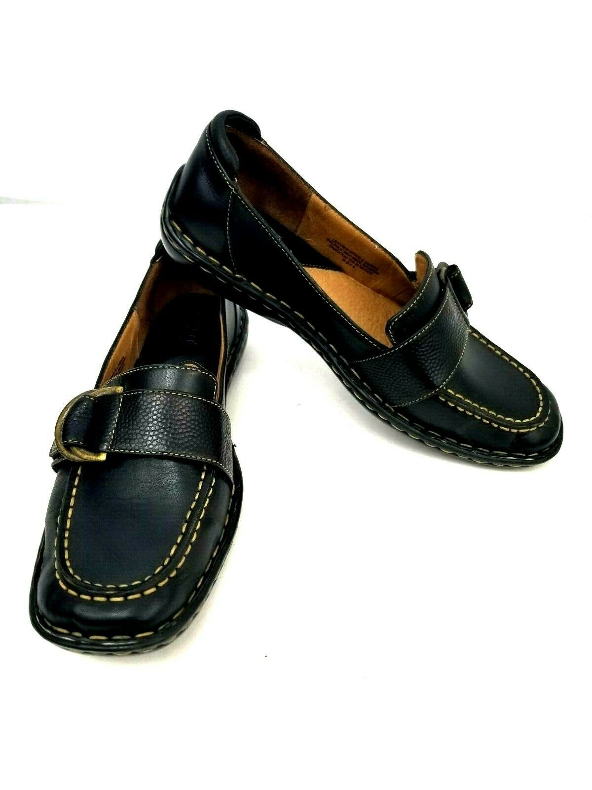 Born W3528 Women's Driving Loafers Brown Size US 8.5M Leather Monk Strap UK 7.5