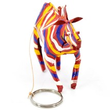 Handcrafted Painted Colorful Recycled Aluminum Tin Can Zebra Ornament Zimbabwe image 2