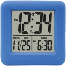 Equity by La Crosse 70905 Soft Cube LCD Alarm Clock (Blue) - $25.57