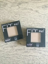 2 x Maybelline FIT Me! Set + Smooth Pressed Powder #240 Golden  Beige Lot of 2 - $15.83