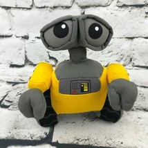 Disney Pixar Wall-E Robot Plush Yellow Gray Stuffed Animal Soft Toy - $9.89