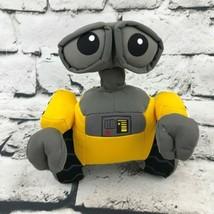 Disney Pixar Wall-E Robot Plush Yellow Gray Stuffed Animal Soft Toy - $9.89