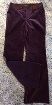 Banana Republic 6 Women's Velour Stretch Dress Pants Satin Waistband Burgundy - $29.99