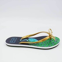 Kate Spade New York Womens Nova Flip Flop Sandals Multicolor Peacock Bow... - $19.79