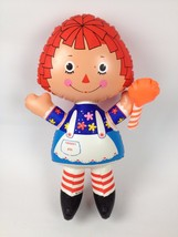 """VTG Ideal Toy 1973 Raggedy Ann 19""""Inflatable Doll Vinyl Plastic Blow Up Toy - $151.46"""