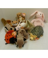 TY Beanie Babies Lot of Nine (9) Beanies - No Bears! Chuckles Lucky Nuts... - $34.98