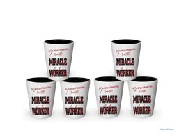I'm Aunt shot glass- Not a Miracle Worker -Aunt Gifts (6) - $29.35