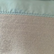 "Vintage Chatham Pure Wool Blue Blanket Satin Trim Edging 90"" x 102"" Full... - $124.64"