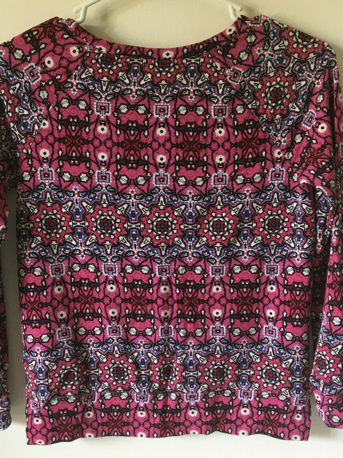 Women's Top Size L Blouse Pink Purple Stay Wild and Free Jessica Simpson Large