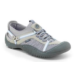 New Jambu Gray Blue Vegan Leather Walking Sneakers Size 8 M $69 - $32.91