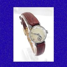 WW2 Steel 15 Jewel Swiss  Ladies Vintage Wrist Watch 1940 - $53.18