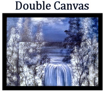 Blue Fall Dual Canvas Panel Painting - $35.00