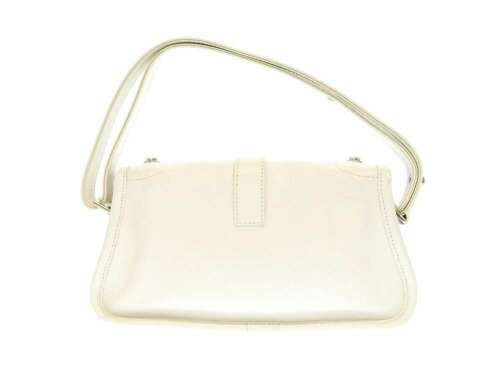 CHANEL Shoulder Bag 2.55 Leather White Semi Shoulder Length Italy Authentic image 3