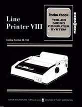 TRS-80 Line Printer VIII Hardware Manual * 26-1168 * PDF * CDROM - $7.99