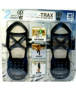 Mens Snow Trax 2 Pair Winter Ice Grippers Size 8-12 ONE SIZE FITS MOST B... - $15.46