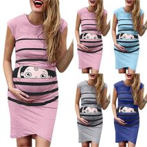 Pregnant Womens Sleeveless Mini Dress Floral Printed Maternity Slim Fit ... - $22.59+