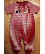 "Boy's Size 6M 3-6 Months One Piece Carter's Red ""Woof"" Embroidered Pants... - $11.00"