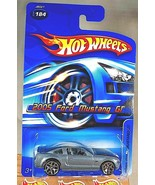 2006 Hot Wheels Collector #184 2005 FORD MUSTANG GT Gray Chrm-Base w/5YS... - $14.25